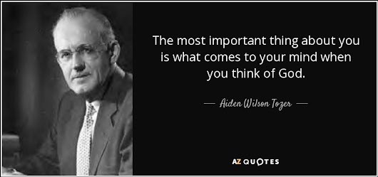 Image: Aiden Wilson Tozer quote: The most important thing about you is ...