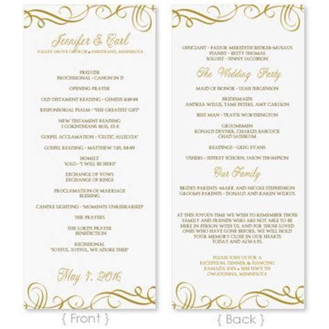 Wedding Program Template   DOWNLOAD INSTANTLY   Edit
