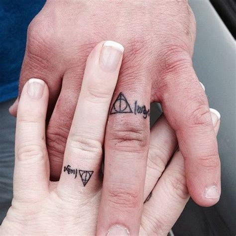 40  Sweet & Meaningful Wedding Ring Tattoos   Things to