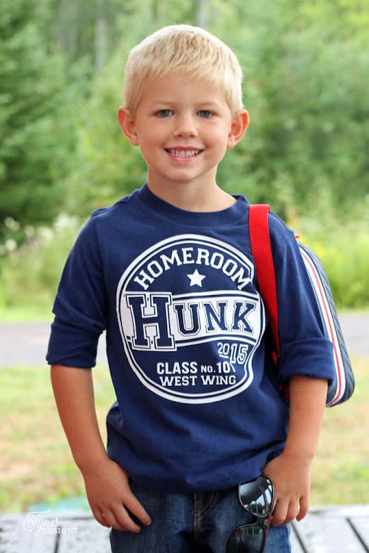 Back to School Cute Kids T-Shirts (Free Silhouette Cut File) - FYNES DESIGNS