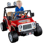 Power Wheels 12V Jeep Wrangler Powered Ride-On - Red