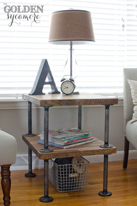 The Golden Sycamore: Knock Off Industrial Side Table