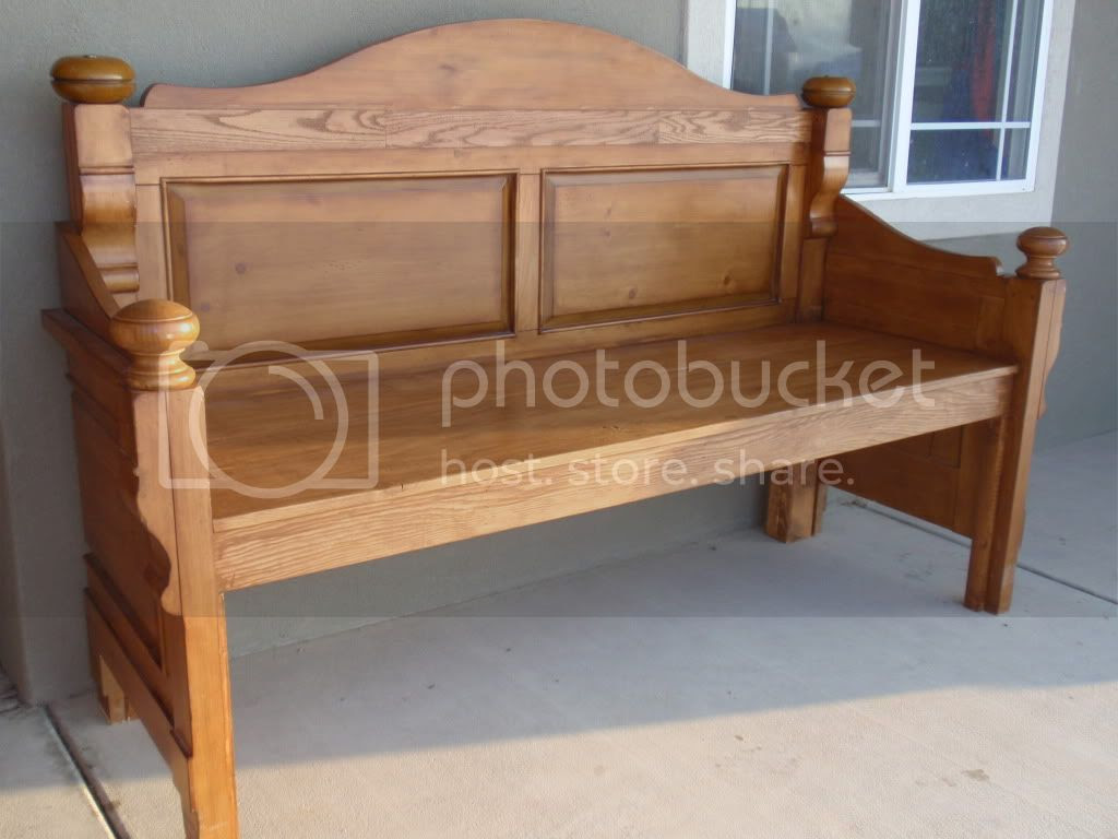 Bench Out Of Headboard Diary Of A Crafty Lady Headboard Into Beautiful Stained Bench