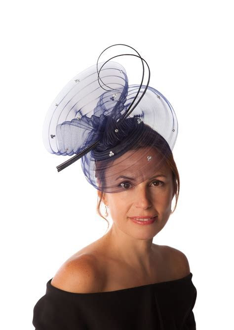 Snoxell Gwyther   Fascinator (Navy)   Fascinators   Bridal