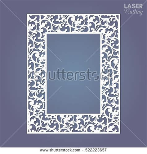 Laser Cut Paper Lace Frame Vector Stock Vector 522223657