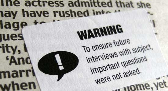 To ensure future interviews with subject, important questions were not asked.