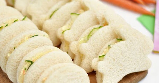 Easter Cucumber Sandwiches