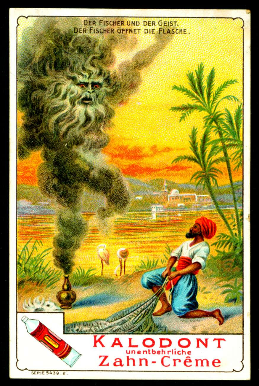 "Kalodont Dental Cream ""The Fisherman & The Genie"" (Arabian Nights story) c1900"