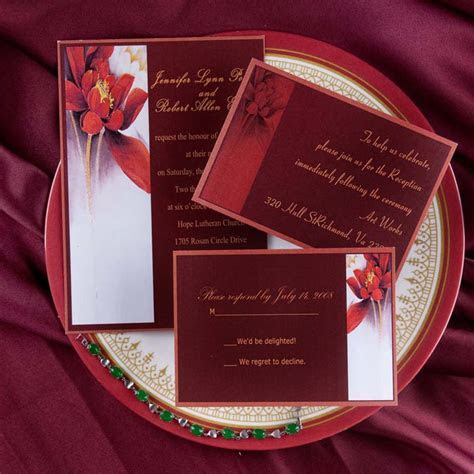 4 Shades Of Red Wedding Colors