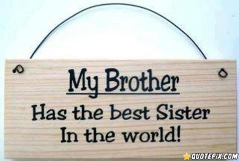My Brother Has The Best Sister In The World Quotespicturescom