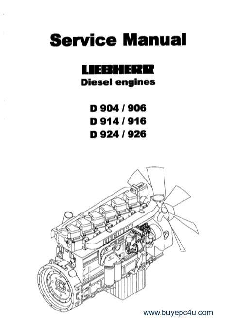 Liebherr D 904 / 906 / 914 / 916 / 924 / 926 Diesel