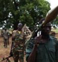 The long war leading to South Sudan's recent independence kicked off during the powerful El Nino drought of 1983. In continuing hostilities, southern fighters display a grenade launcher captured from the northern Sudan Armed Forces, July 2011.