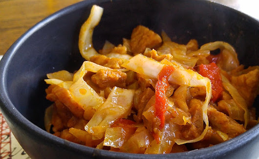 Cabbage and Pepper Thai Curry
