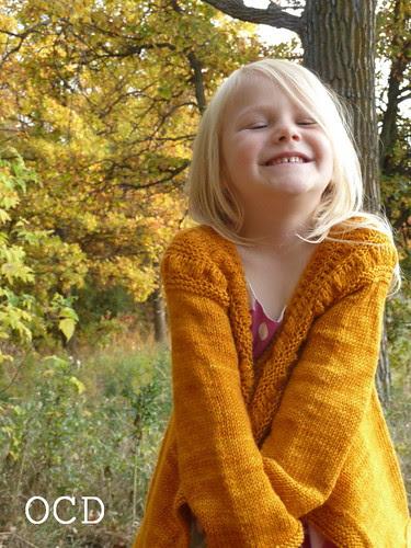 orange sweater joy