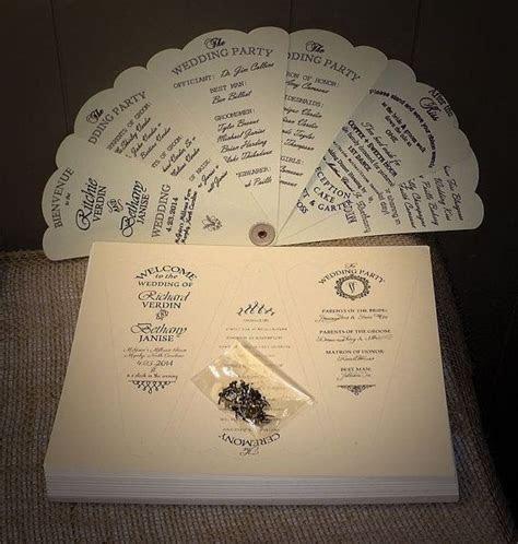fan wedding programs ideas   pinterest