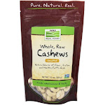 NOW Foods Whole Cashews Raw Unsalted 10 oz.