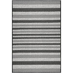 """2'X3'4"""" Stripes Washable Doormat Gray - Maples"""