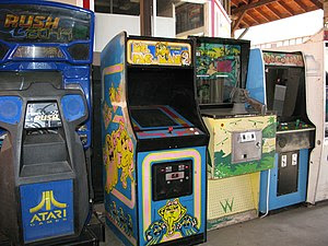 Arcade cabinets of San Francisco Rush 2049, Ms...