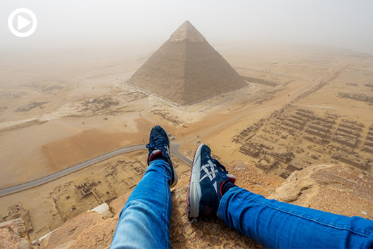 German Teen Photographer Climbs the Great Pyramid of Giza and Captures It All | Fstoppers