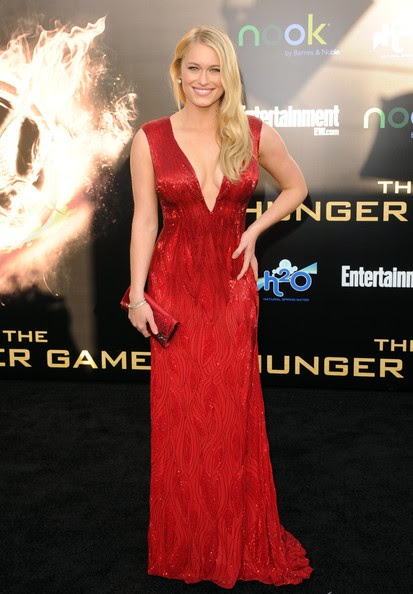 """Leven Rambin Actress Leven Rambin arrives at the premiere of Lionsgate's """"The Hunger Games"""" at Nokia Theatre L.A. Live on March 12, 2012 in Los Angeles, California."""