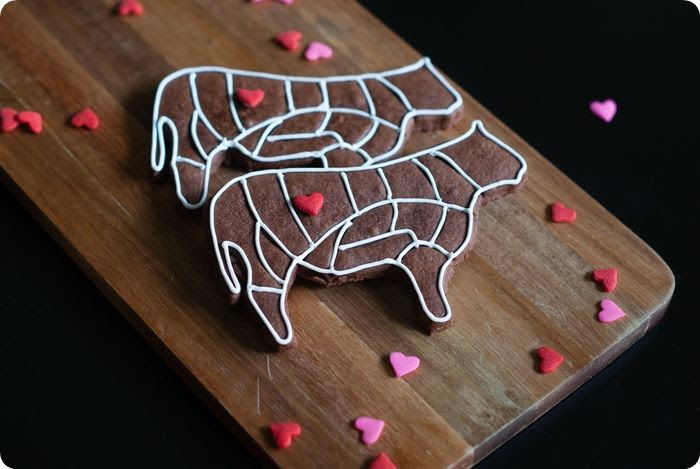 love me tender(loin) decorated cookies