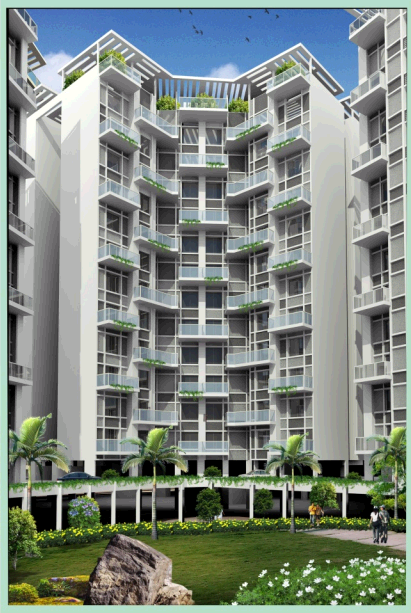 Sahara City Homes Pune 2 BHK Flats Building Elevation