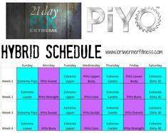 piyo   day fix hybrid calendar