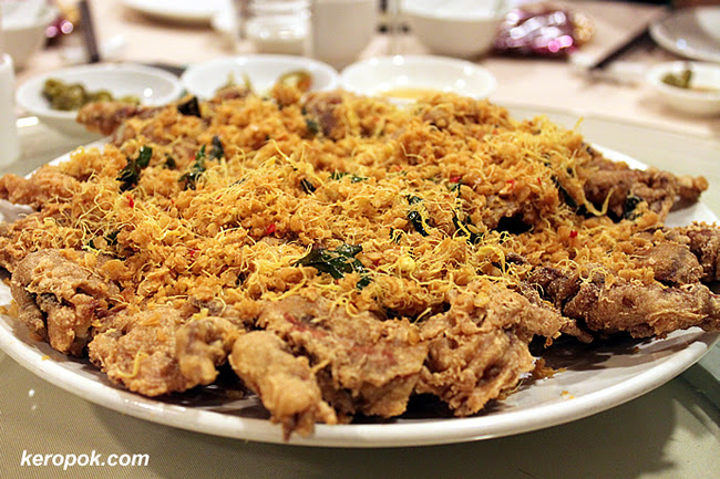 Deep fried Soft Shell Crab with Oats