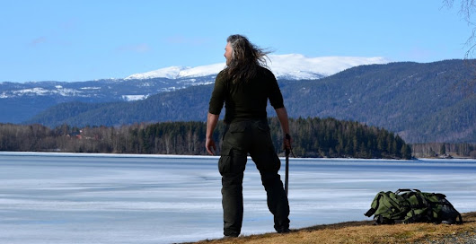 VIKING MAN in NATURE by Tyr Neilsen