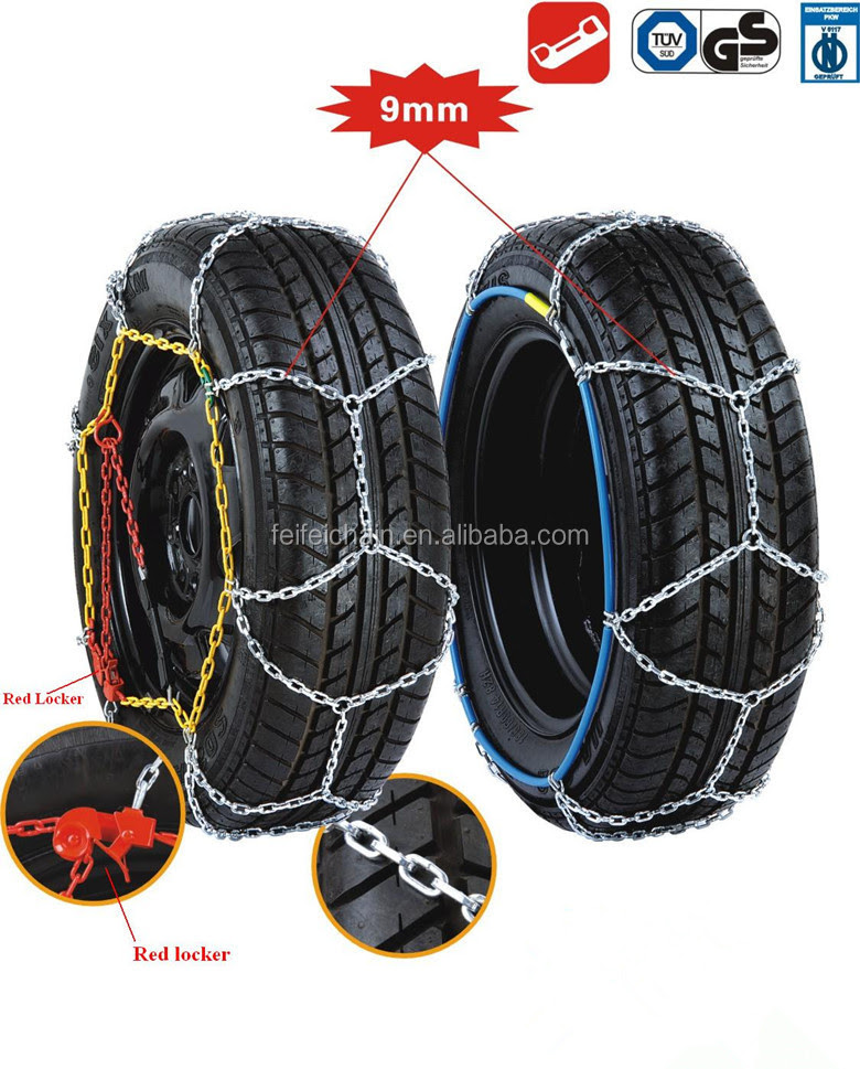 9mm Car Snow Chains With Tuv Gs And Onorm V5117 Buy Snow