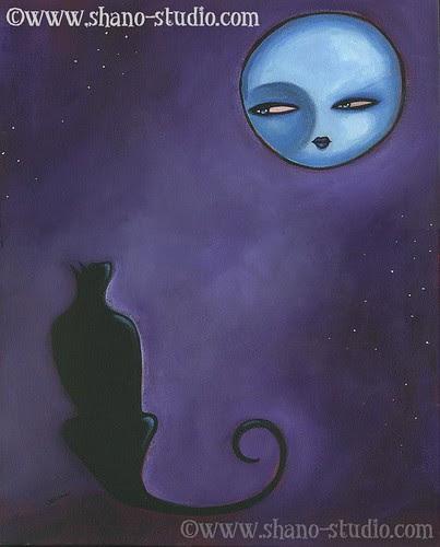 le lune et chat