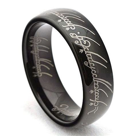 Black Lord of the Rings The One Replica Tungsten Ring