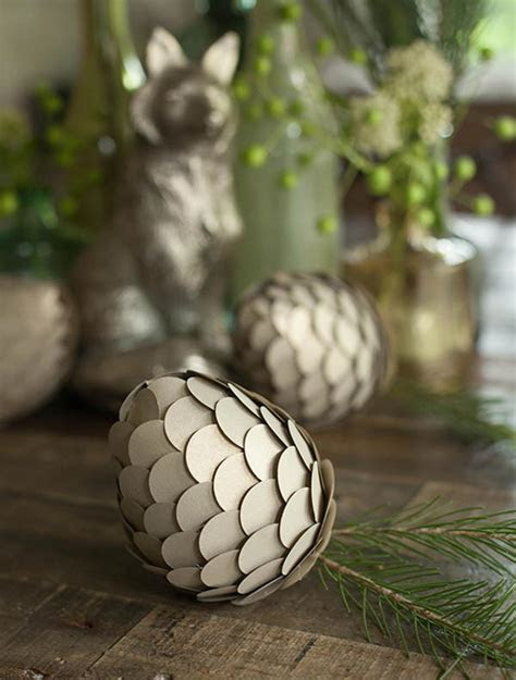 Paper Pine Cone Crafts   AllFreeDIYWeddings.com