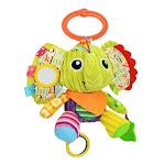 Sozzy Plush Baby Animal Multi Sensory Development Activity Toy, 3 to 36 Mths, Green Elephant