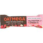 Oatmega Protein Bar, White Chocolate Raspberry - 1.8 Ounce -PACK 12