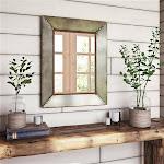 Aspire Home Accents 7111 Glenan Farmhouse Wall Mirror Gray