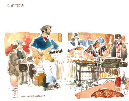 Pizza Contadina and fett delle Musique