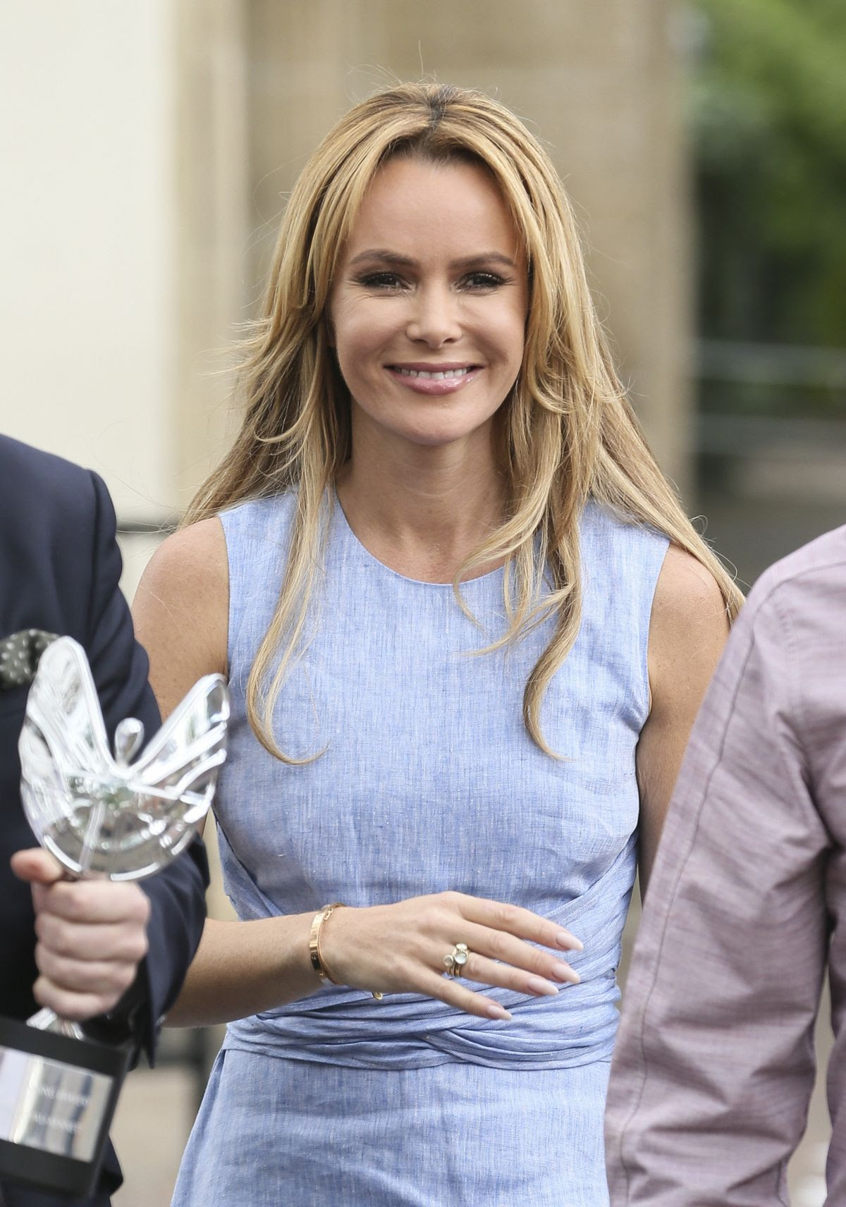 AMANDA HOLDEN at ITV Studios in London 06/08/2015
