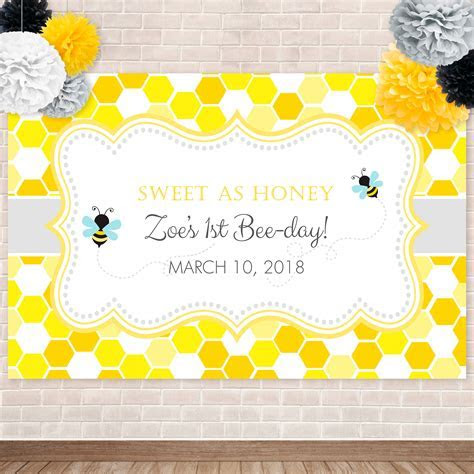 Bumble Bee  Honeycomb Backdrop   Anna & Ivey