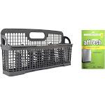 Kenmore0022665bundle00004 W10190415 Dishwasher Silverware Basket and Affresh W10282479 Dishwasher and Disposer Cleaner Bundle Genuine Original