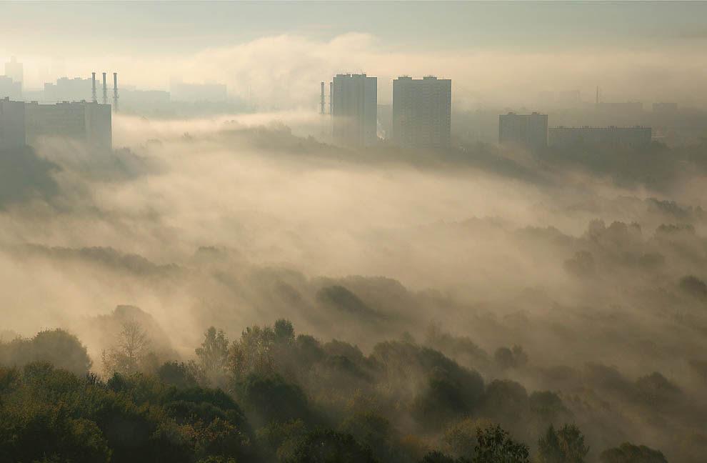 11170 City shrouded in mist