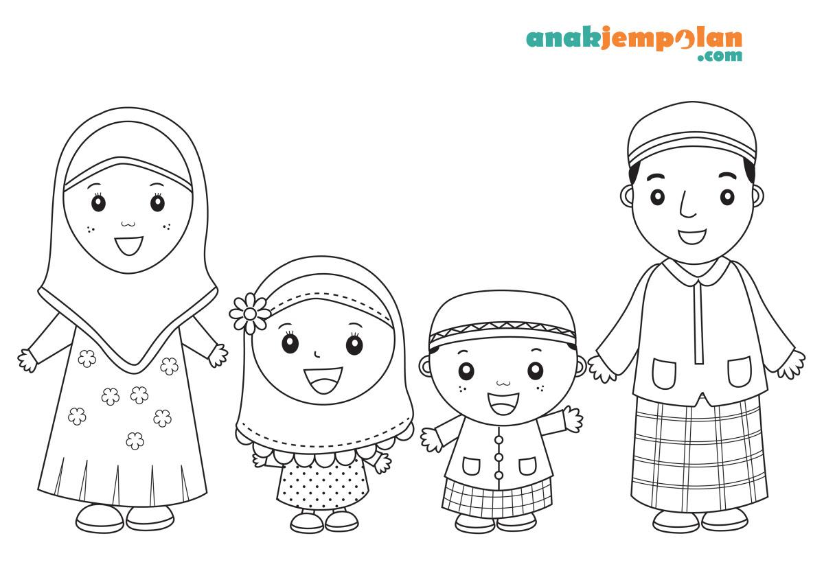 Mewarnai Gambar Anggota Keluarga Warsiog