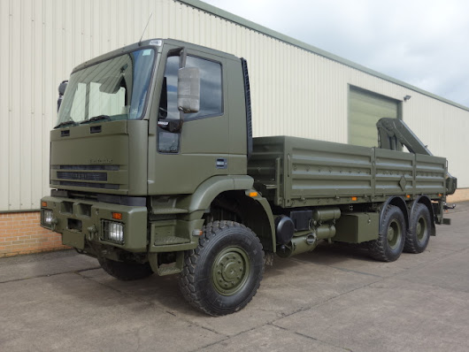 Iveco Eurotrakker 6x6 Cargo truck With Rear Mounted Crane for sale | MOD direct sales| LJackson and co ltd