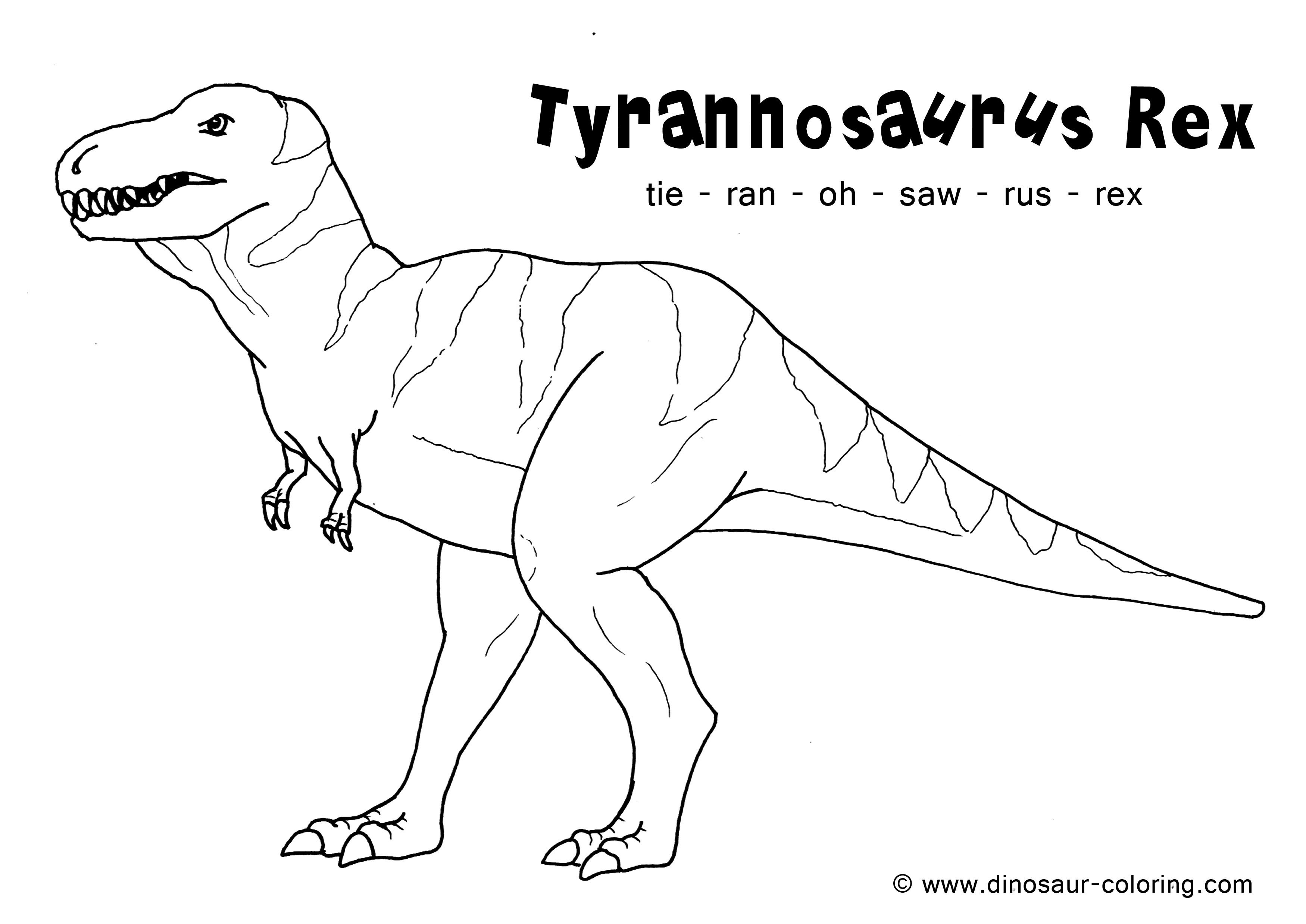28 EASY COLORING DINOSAURS T REX PRINTABLE PDF - * Coloring