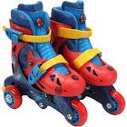 Playwheels Spider-Man Convertible 2-in-1 Skates, Junior Size 6-9