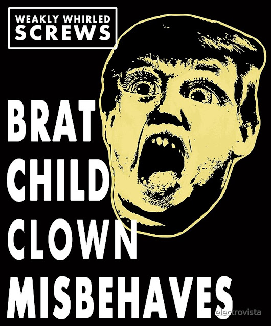 'Real Fake News?  Brat Boy Clown Misbehaves '  by electrovista