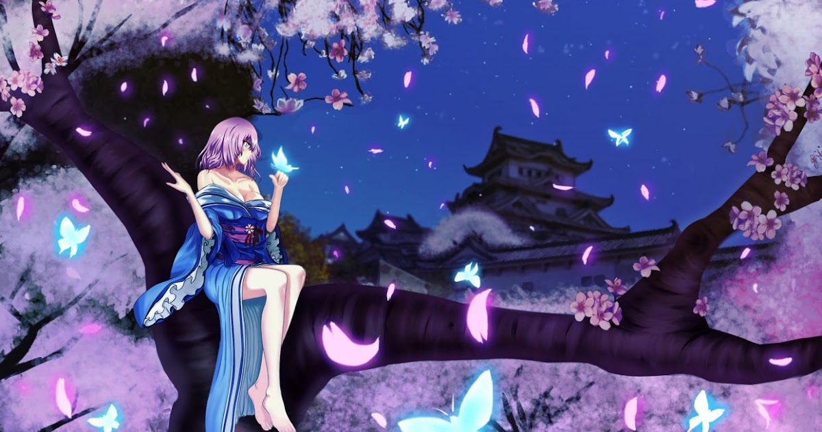15 Cherry Blossom Night Anime Wallpaper Tachi Wallpaper