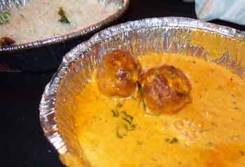 Malai Kofta, my now second favorite: paneer and vegetable dumplings simmered in a cream almond sauce