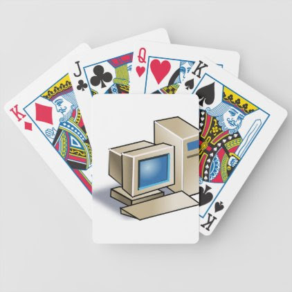 Retro Computer Bicycle Playing Cards