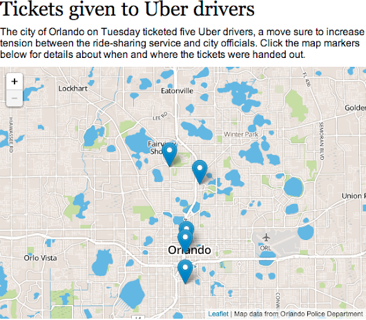 Orlando tickets drivers, tows cars in Uber crackdown